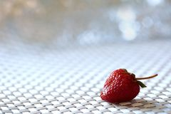 The red strawberry is a juicy and the most sumptuous fruit with a lot of vitamins. A ripe red strawberry is a pretty acidic flavor that can enslave many gourmet Royalty Free Stock Images