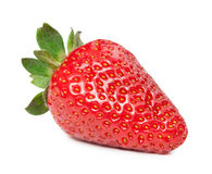 Ripe red strawberry on white background isolated Royalty Free Stock Images