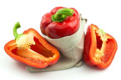 Ripe red sweet pepper Royalty Free Stock Photos