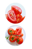 Ripe red tasty tomatoes Stock Photos