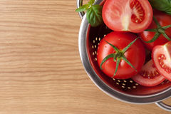 Ripe red tomatoes. Photo of fresh red tomatoes Royalty Free Stock Photo