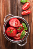 Ripe red tomatoes. Photo of fresh red tomatoes Stock Images