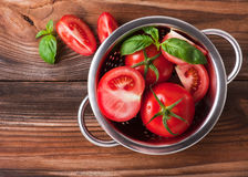 Ripe red tomatoes. Photo of fresh red tomatoes Stock Image
