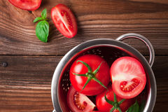 Ripe red tomatoes. Photo of fresh red tomatoes Stock Photos