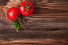 Ripe red tomatoes. Photo of fresh red tomatoes Stock Photo