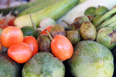Ripe Red Tomatoes and vegetables Royalty Free Stock Images