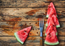 Ripe red watermelon slices Royalty Free Stock Images