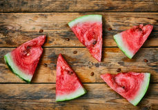 Ripe red watermelon slices Stock Image