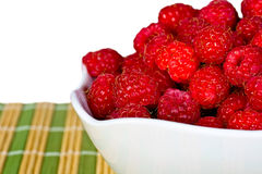 Ripe  red wild raspberries Royalty Free Stock Photos