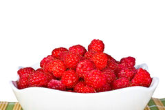 Ripe  red wild raspberries Stock Images