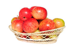Ripe red-yellow apples Stock Photos