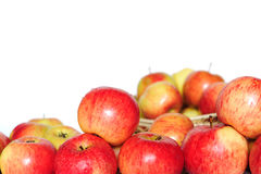 Ripe red-yellow apples Stock Images