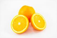 Ripe round oranges on white backgroud Stock Photo
