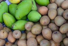 Ripe sapodilla fruits in market stock photography