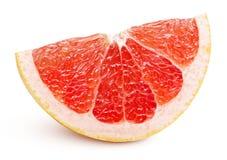Wedge of pink grapefruit citrus fruit isolated on white royalty free stock image
