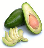 Ripe sliced avocado Stock Image