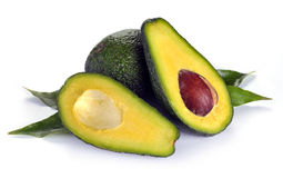 Ripe sliced avocado Stock Photos
