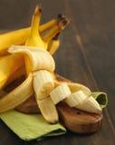 Ripe sliced banana Royalty Free Stock Photos