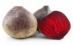 Ripe Sliced Beet Isolated on White Stock Images