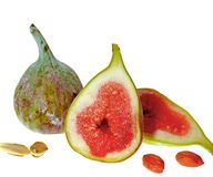 Ripe sliced figs Royalty Free Stock Image