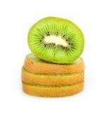 Ripe Sliced Kiwi Fruit Isolated Royalty Free Stock Photo