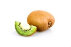 Ripe Sliced Kiwi Fruit Isolated Stock Photography