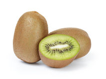 Ripe sliced kiwi fruit isolated on white Royalty Free Stock Photo