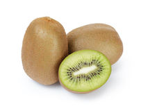 Ripe sliced kiwi fruit isolated on white Stock Image