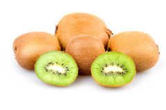 Ripe Sliced Kiwi Fruits Isolated Stock Photos