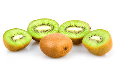 Ripe Sliced Kiwi Fruits Isolated Royalty Free Stock Image