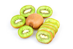Ripe Sliced Kiwi Fruits Isolated Royalty Free Stock Photo