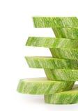 Ripe sliced marrow. Stock Image