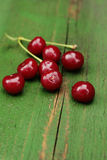 Ripe sour cherries Royalty Free Stock Images