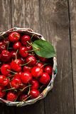 Ripe sour cherries in summer time Stock Photos