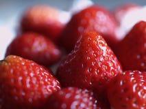 Ripe strawberries. Closeup of pile of ripe, fresh strawberries Stock Photos