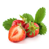 Ripe strawberries Stock Photos