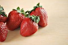 Ripe strawberries stock photography