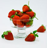 Ripe strawberries. Ripe berries. red sweet strawberry stock photography