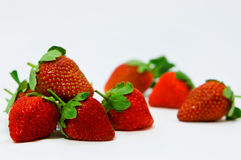 Ripe strawberries. Ripe berries. red sweet strawberry royalty free stock image