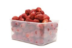The ripe strawberries in box_1 Royalty Free Stock Photography