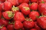 Ripe strawberries in bulk Royalty Free Stock Images