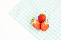 Ripe strawberries isolated on white background Stock Photo