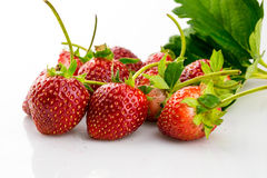 Ripe strawberries Stock Photo