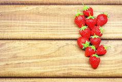 Ripe Strawberries On Wooden Table. Stock Image