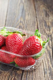 Ripe strawberries in packing Royalty Free Stock Photo