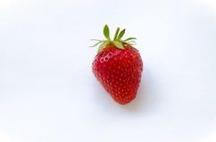 Ripe strawberries. Ripe strawberry on the white background Royalty Free Stock Photo