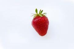 Ripe strawberries. Ripe strawberry on the white background Stock Photo