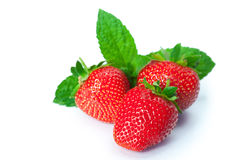 Ripe strawberries on white background Royalty Free Stock Photo