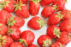 Ripe strawberry. Close up of the ripe strawberries Royalty Free Stock Image
