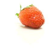 Ripe strawberry. Closeup of ripe strawberry isolated on white background Stock Image